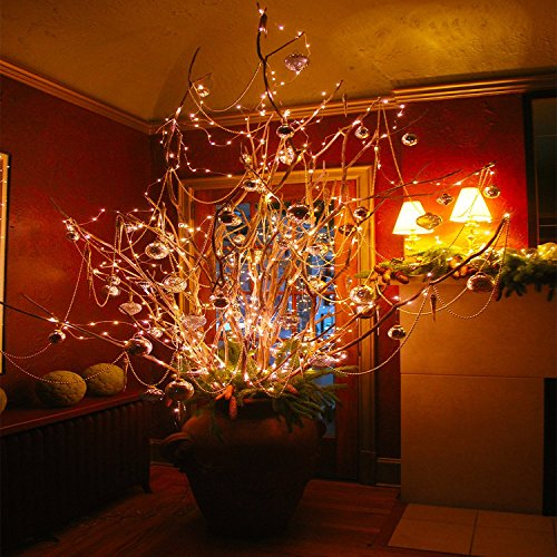 Solar String Lights, Ankway 200 LED Solar Fairy Lights 3-Strand 8 Modes 72 ft Waterproof IP65 Solar Powered String Lights Outdoor for Home Window Bedroom Patio Garden Indoor Warm White by Ankway (Image #2)