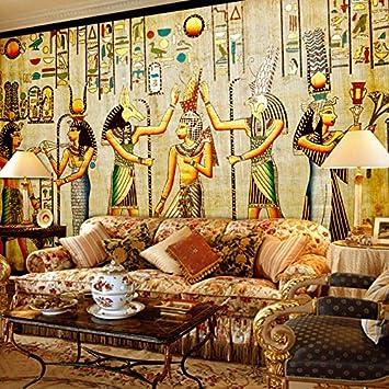 300cmX250cm Benutzerdefinierte Wandbild Tapeten ägyptische Figuren ...