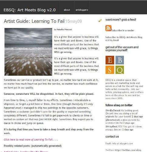 EBSQ: Art Meets Blog v2.0 - Painter Blog