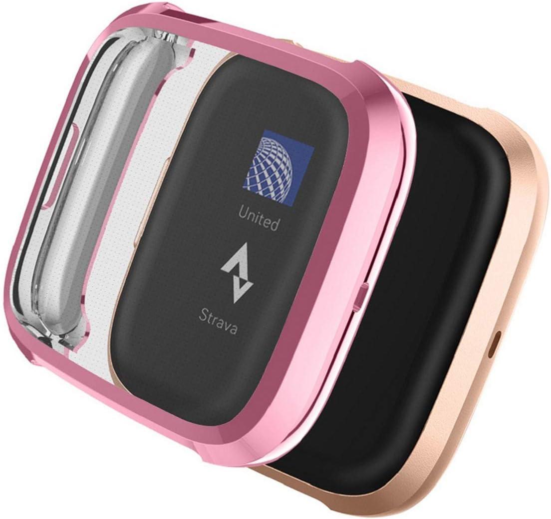 Funda Protectora para Fitbit Versa 2 YoLin 2 Unidades, Ultrafina, TPU, para 2019