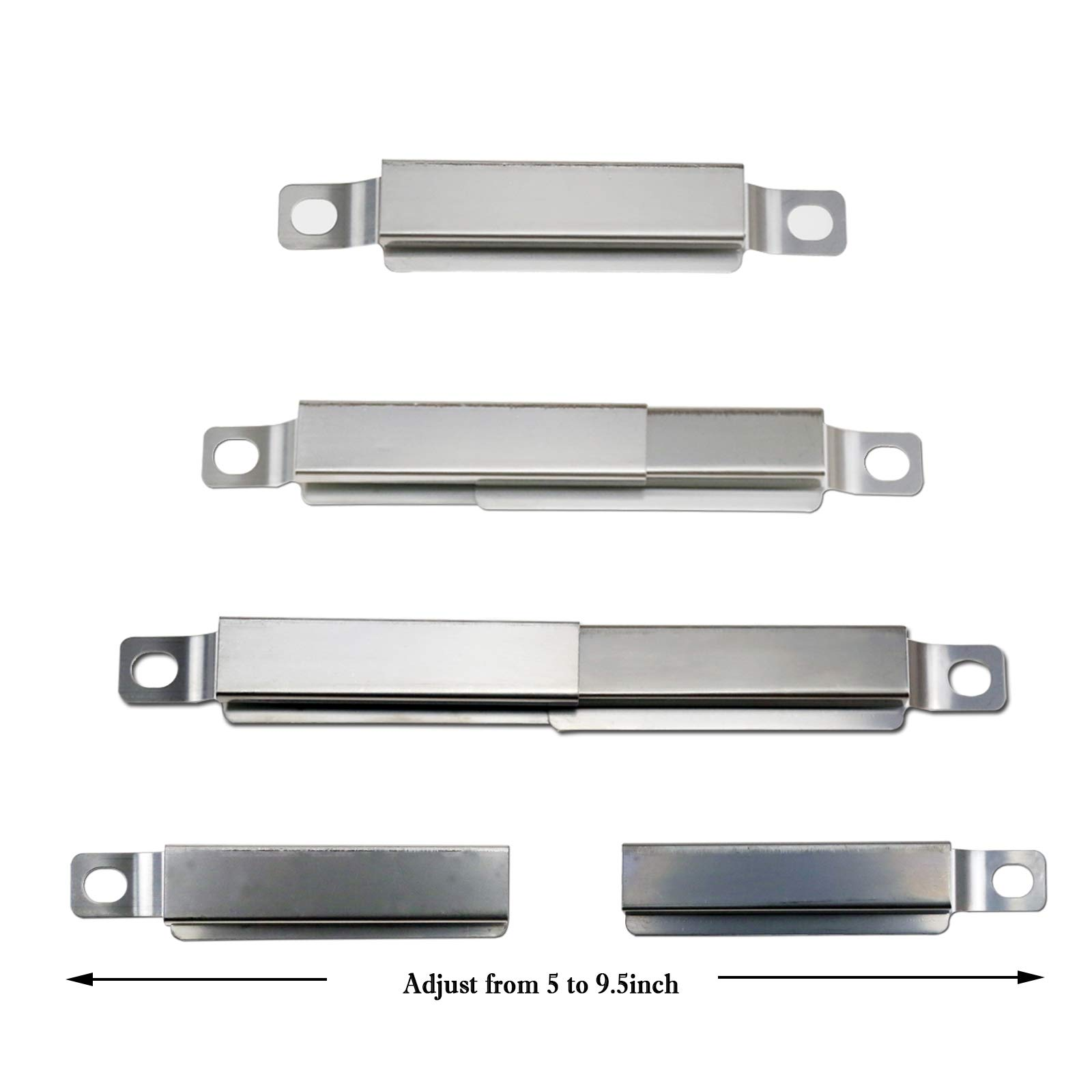 Hisencn BBQ Stainless Burner Tube, Heat Plates Tent Shield, Burner Cover, Adjust Crossover Tube Replacement for BBQ-pro 146.2367631, Kenmore 146.10016510, 146.16198211, 146.16197210 Gas Grill Models by Hisencn (Image #8)