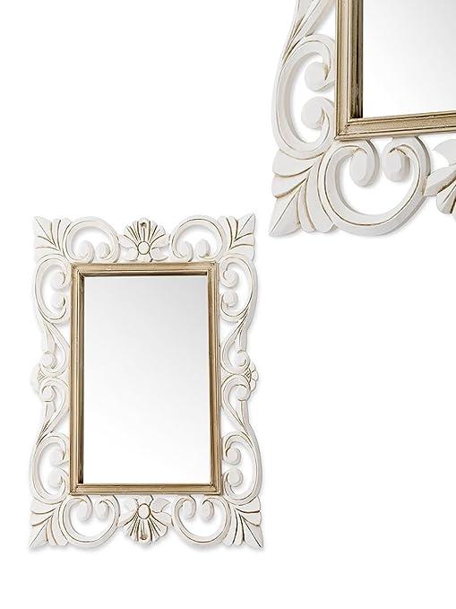 Montemaggi Specchio Da Parete Rettangolare Con Cornice In Legno