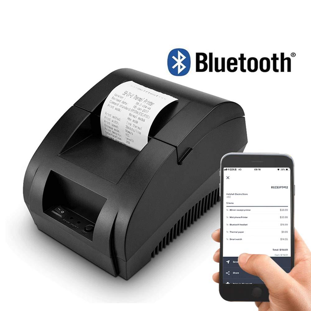 DEYE Impresora de Recibos Bluetooth de 58 mm Impresora ...