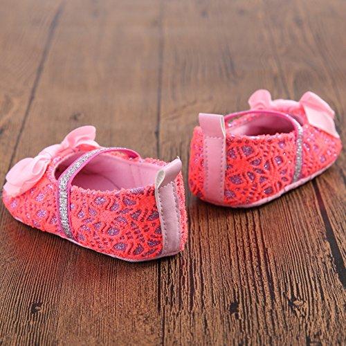 Leap Frog  Lace Mary Jane, Baby Mädchen Lauflernschuhe, rot - rose - Größe: 12-18 Monate