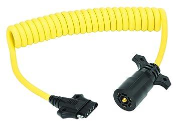 amazon com wesbar 7 way flat pin to 5 flat coiled adapter 8 wesbar 7 way flat pin to 5 flat coiled adapter 8 feet
