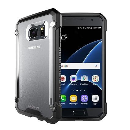 TECHGEAR Funda Compatible con Galaxy S7 Edge - [Fusion Armor] Carcasa Protección contra Las Caídas Reforzada Durable y Delgada para Samsung Galaxy S7 ...