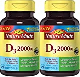 #2: Nature Made Vitamin D3 2000 IU 250 Softgels (Pack of 2)