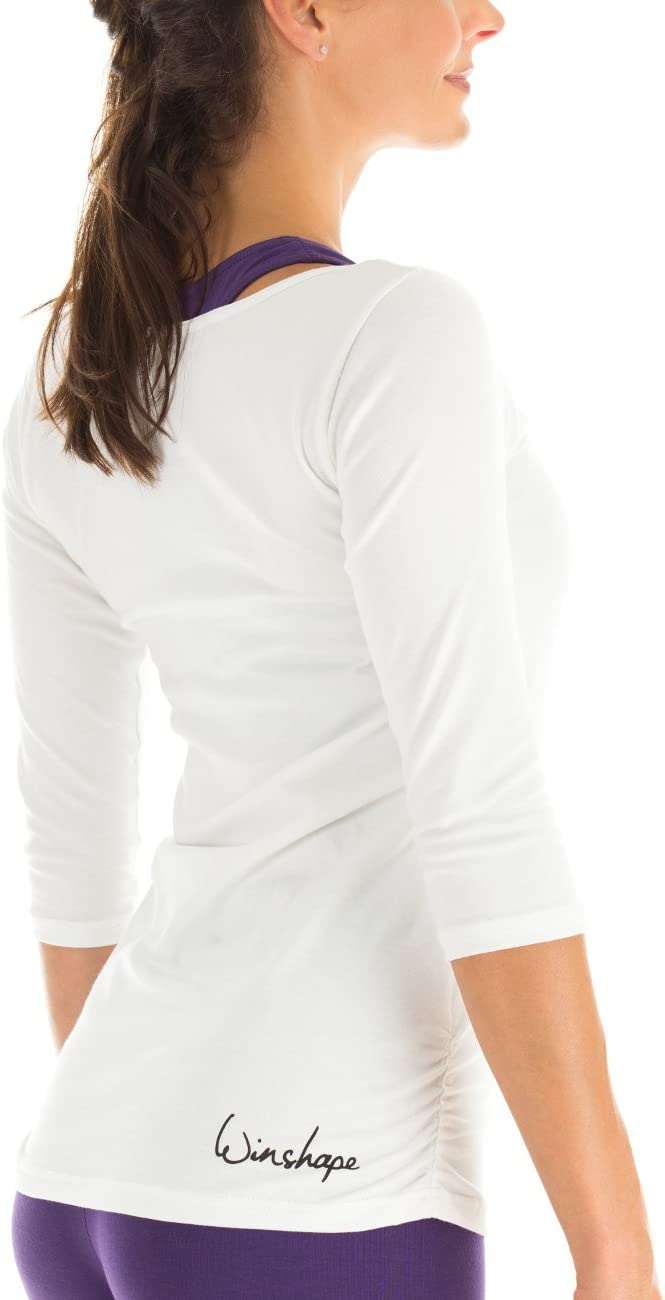 Winshape Damen Fitness Yoga Pilates 3//4-Arm Shirt WS4