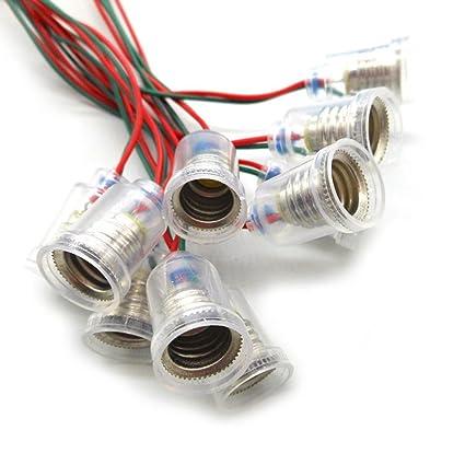 12PCS E10 -Mount Bulbs Holder E10 LED Light Lamp Socket with 8.6
