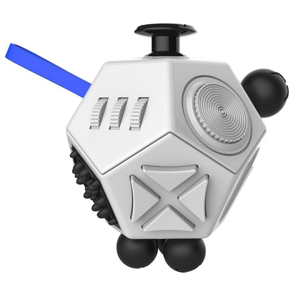 Fidget Cube, Starsprairie Anxiety Stress Relief Office Gift Educational Toys Desktop 12 Sides for Adults and Children Autism Adhd (Black)