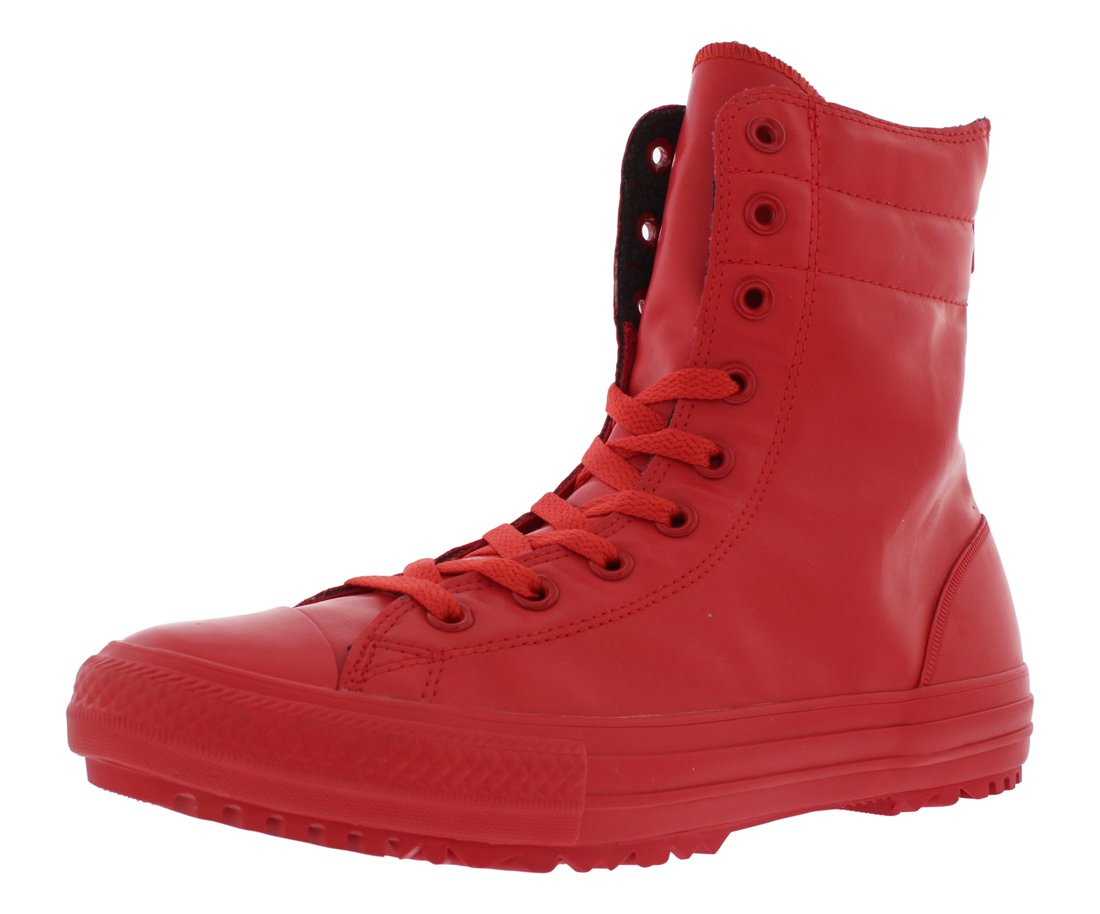 Converse Women's Chuck Taylor All Star Hi-Rise Boot Rubber (6 US, Red)
