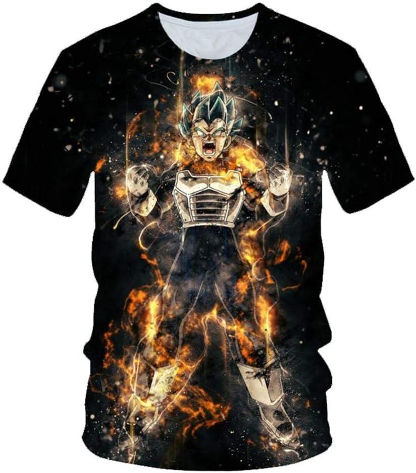 T-Shirt 3D Stampato Neonato Vestiti per Bambini Cartone Animato Moda Estate Ragazzi E Ragazze Goku Top A Maniche Corte Stampato 3D