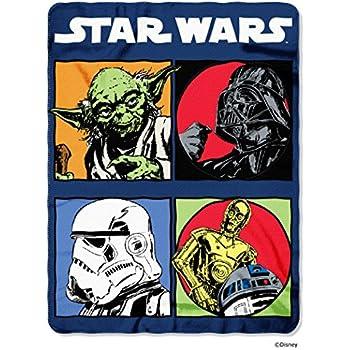 "Disney Lucas Films' Star Wars Classic Long Time Ago Printed Fleece Throw, 45 by 60"""