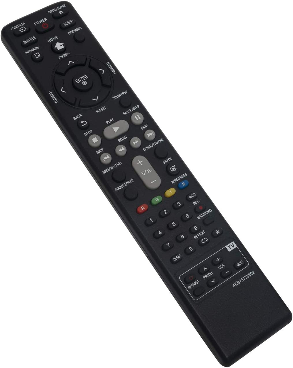 AKB73775802 Replace Remote Control fit for LG 3D Blu-ray Disc DVD Player Home Cinema Theater System BH4030S BH4430P BH4530T BH5140 BH5140S BH5140SF0 BH5440P BH5540T BH6230S BH6240S S43S1-W S43S2-S