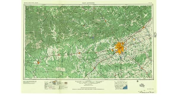 Amazon.com : San Antonio TX topo map, 1:250000 scale, 1 X 2 Degree, Historical, 1957, 22.6 x 33 IN - Paper : Sports & Outdoors