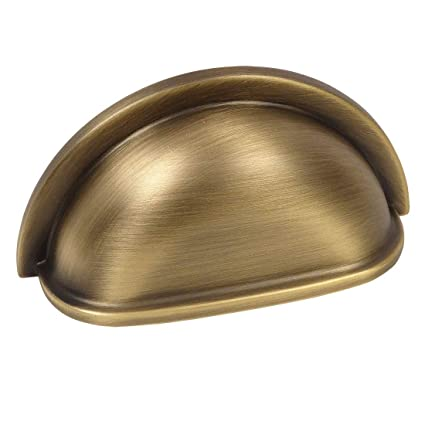 5 Pack - Cosmas 4310BAB Brushed Antique Brass Cabinet Hardware Bin Cup  Drawer Handle Pull - - 5 Pack - Cosmas 4310BAB Brushed Antique Brass Cabinet Hardware Bin