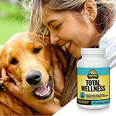 Zoeez Naturals Total Wellness For Dogs: Daily Multivitamin Chews With Minerals and Antioxidants – Made Without Corn or Wheat (Duck Flavor), 60 Chewable Tablets