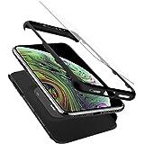 【Spigen】 スマホケース iPhone XS ケース/iPhone X ケース 5.8インチ 対応 360度保護 レンズ保護 衝撃 吸収 シン・フィット360 057CS22177 (ブラック)