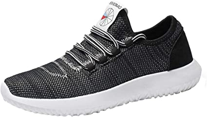 NEARTIME Mens Sneakers Men Fashion Breathable Shoes Running Sport Flat Athletic Round Toe Lace-up Shoes
