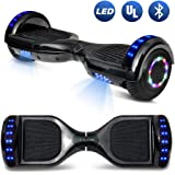 """BornTech Talent Series 6.5"""" Electric Scooter HoverBoard Smart Self-Balancing Wheels With Built in Bluetooth Speaker LED Lights UL2272 Certified Approved"""