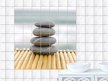 Graz Design 765173_20x25_70_V Fliesenaufkleber Fliesen Sticker Deko Fr Bad  Kche Badezimmer Fliesenbild Bereinandergestapelte Steine Fliesengre 20x25cm