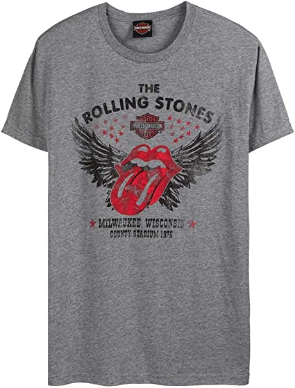 Harley-Davidson Men/'s Rolling Stones America Tour Short Sleeve T-Shirt Black