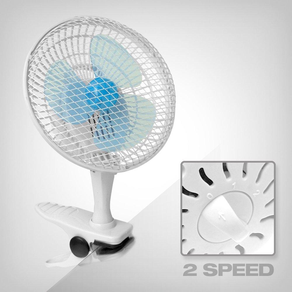 idealer Tischventilator Umluftventilator GrowPRO Clip Ventilator