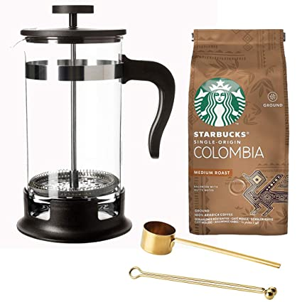 1 Litre 35 Floz Glass Stainless Steel French Press Coffee