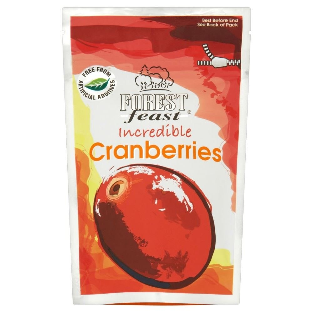 Forest Feast Incredible Cranberries (80g) - Pack of 2