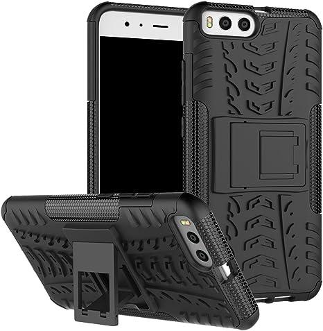 Funda Xiaomi Mi6, Xiaomi Mi 6 Carcasa Protectora Antigolpes Armadura Doble Capas a Prueba de Choques Caída Protección Robusto Case con Soporte Color Negra: Amazon.es: Electrónica
