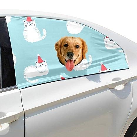 Raya Gato Divertido Sombrero Plegable Mascota Perro Seguridad Coche Impreso Ventana Valla Cortina Barreras Protector para