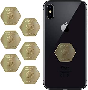 EMF Protection 2020 Latest Model - EMF Protection Cell Phone Sticker 6+1 pcs - Phone Anti-Radiation Shield - Best EMF Pro Neutralizer - EMF Mobile Phone Protector - Blocker for All Electronic Devices