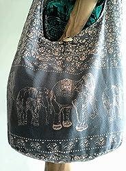 Thai Vintage Elephant Crossbody Shoulder Bag Handmade