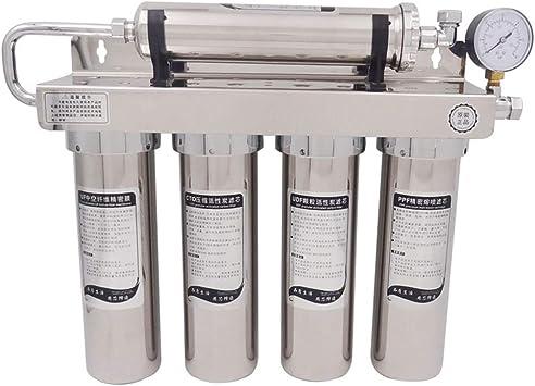 WLD Filtro de agua potable para fregadero con purificador de agua para uso doméstico, sistema de filtración de agua potable para tuberías de etapas múltiples de 20 pulgadas, dispositivo de filtración: Amazon.es: