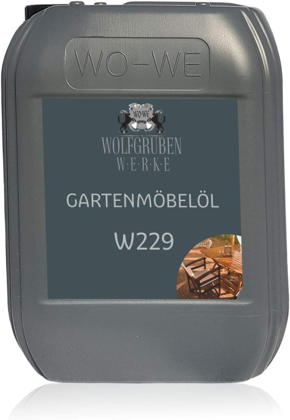 Aceite para muebles Jardín Terraza Protección y Cuidado de Madera W229-10L