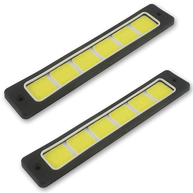 Safego 2Pcs/Set DRL COB LED 60Chips Impermeable Conducción Luces Diurna Faros Luz de Niebla para Coche/SUV/ATV 8W 300LM 6000K Xenon Blanco: Amazon.es: Coche ...