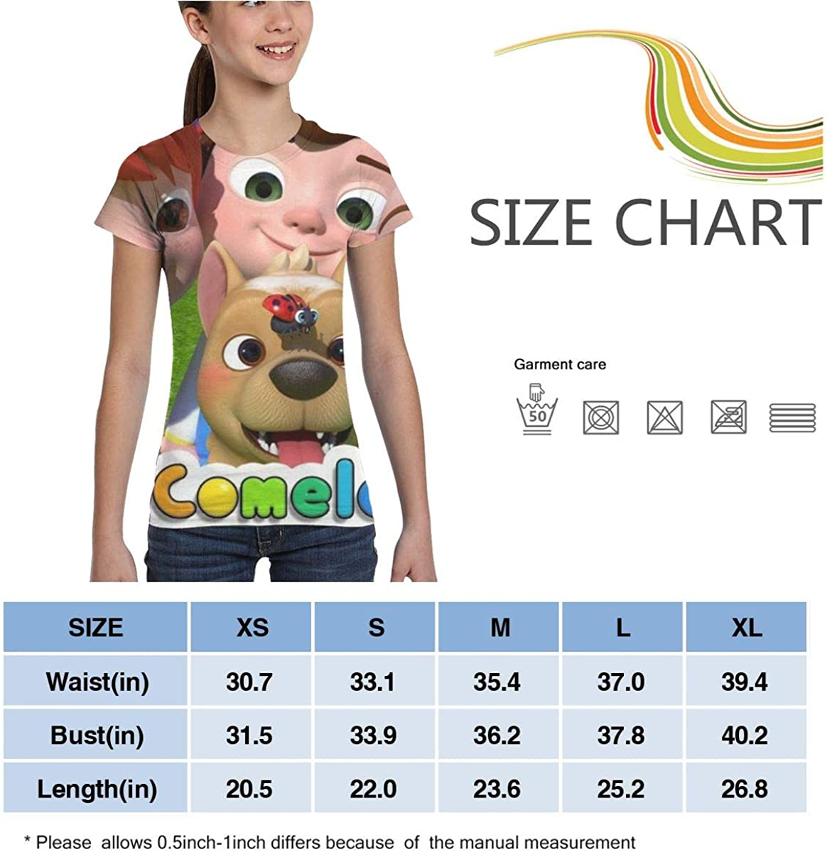 Co-comelon My Little Dog Song Girls T Shirt Short Sleeve Summer Tee 3D Printing Fashion Tops