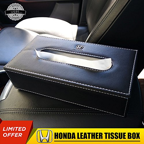 Usdm Type (US85 Honda Leather Auto Car Tissue Box Cover Napkin Paper Holder Decoration Gift)