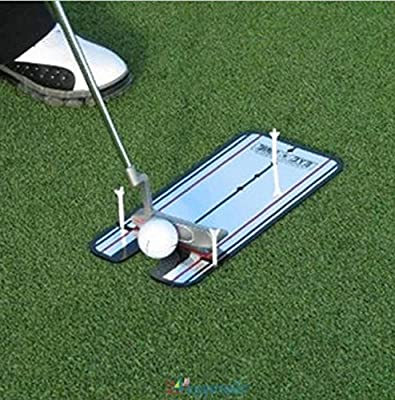 LIKE SHOP Golf Putting Mirror Training Eyeline Alignment Practice Trainer Aid Portable