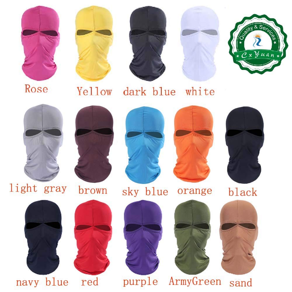 CxYuan 2019 2 Holes 5pcs Light Gray 1 Package Balaclava 1-Pack Face Mask Helmets Liner Ski Gear Neck Gaiter Ski Mask Accessories