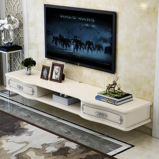 Iuhan Floating Shelf Tv Console Wall Mounted Media Console Asymmetrical Entertainment Storage Shelf Modern Tv Stand Board Rack Talkingbread Co Il