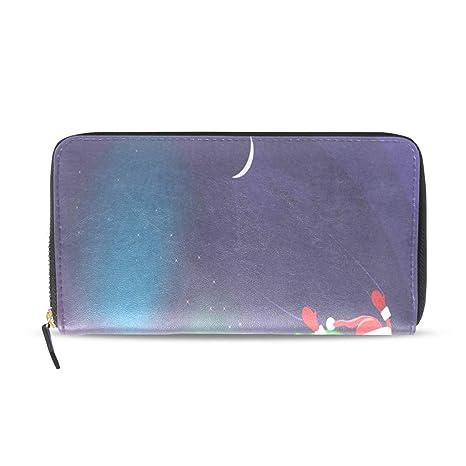 """5f5e71d993 Borse borse Glittering note musicali in pelle passaporto portafogli  portamonete con zip da donna 4"""""""