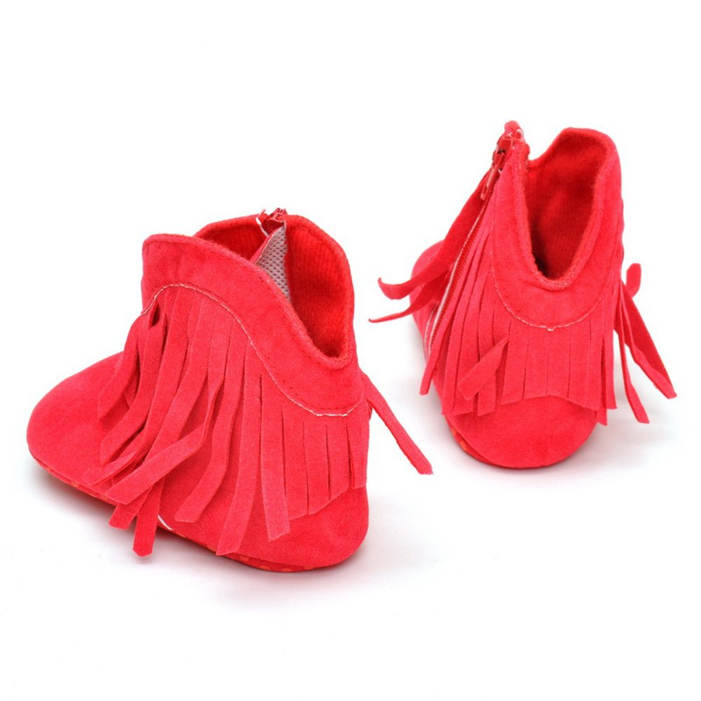 Baby Girls Shoes Tassel Soft Sole Bottom Non-Slip Warm Boots Toddler Infant Prewalker