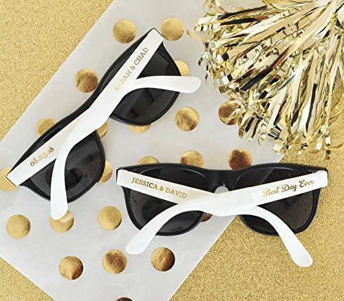 Set of 24 Personalized Wedding Sunglasses Party Favors