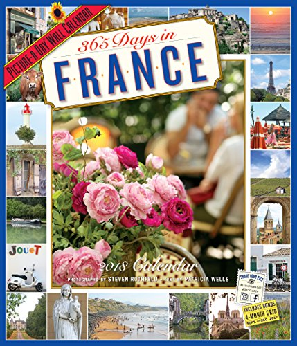 365 Days in France Picture-A-Day Wall Calendar 2018 cover