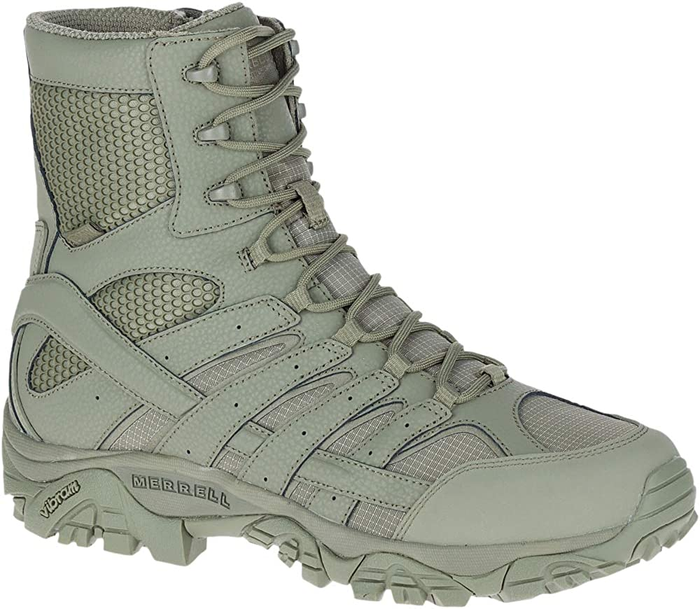merrell moab 2 mid coyote tactical waterproof boot green