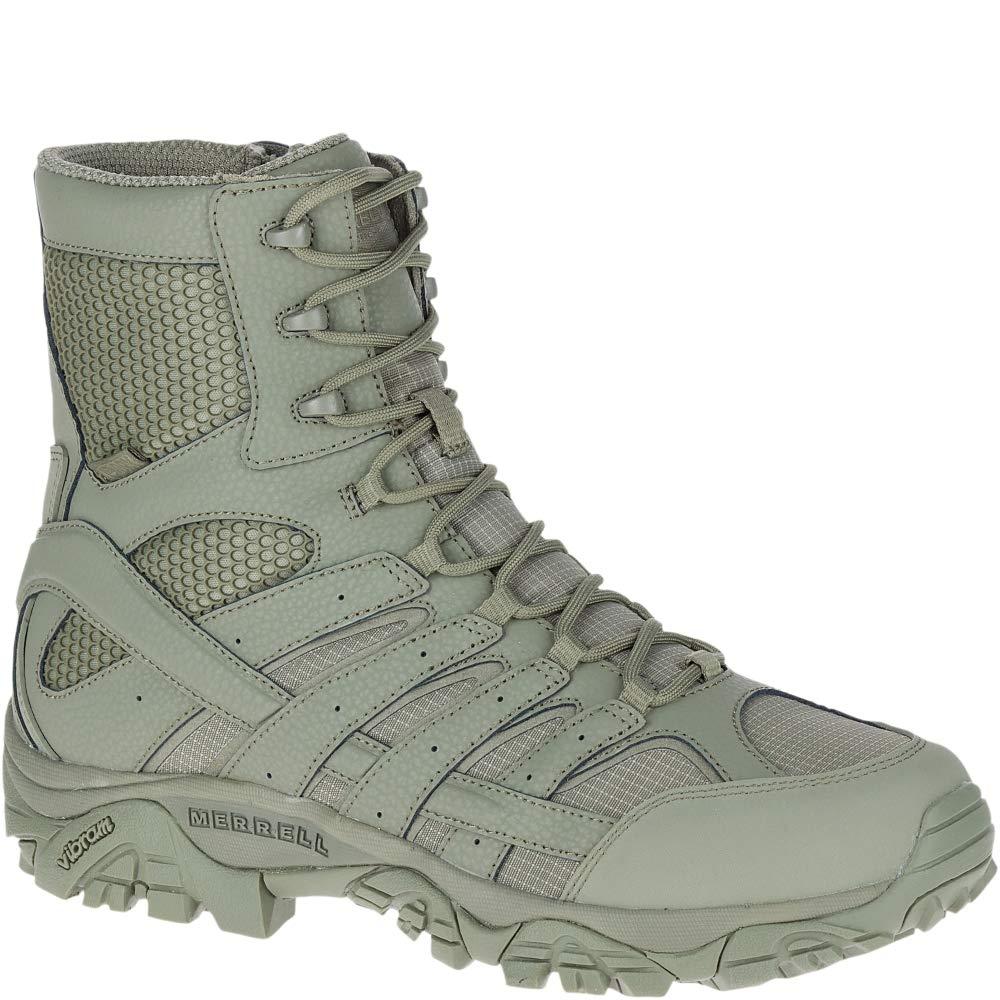 Merrell Moab 2 8'' Tactical Waterproof Boot Wide Men 10.5 Sage Green