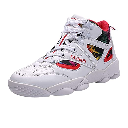 26d238d92fe8a Men Women's Fashion High-Top Sneakers Outdoors Mixed Colors Wear ...