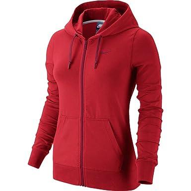 264015dfe74d7 Nike - W NSW HOODIE FZ JRSY - Sweat-shirt - Rouge - M - Femme ...
