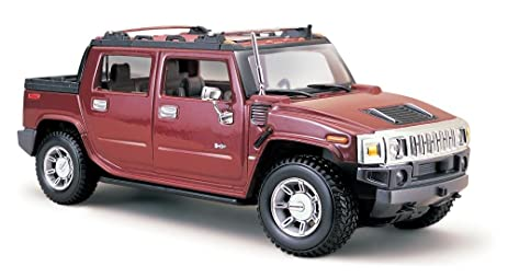 Amazon.com: Maisto Cast 1:27 Scale Red 2001 Hummer H2 Sut ...
